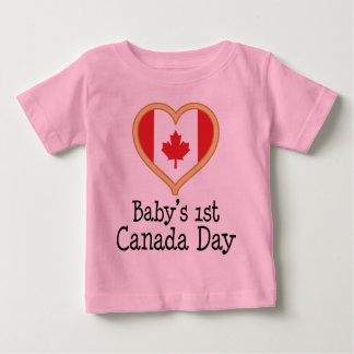 Babys 1st Canada Day Baby T-Shirt