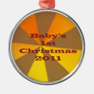 Baby's 1st Christmas 2011 Silver-Colored Round Decoration