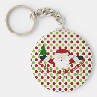 Babys 1st Christmas Basic Round Button Key Ring