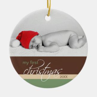 Baby's 1st Christmas Custom Ornament (cocoa)