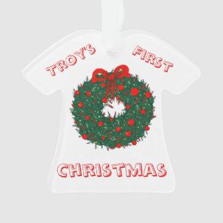 Baby's 1st Christmas Customisable Ornament