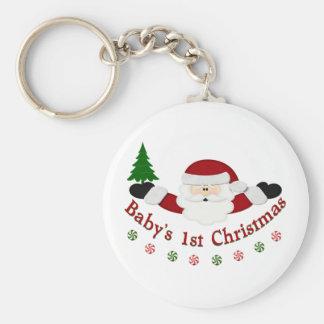 Babys 1st Christmas Keychain