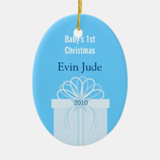 Baby's 1st Christmas Ornament (oval)