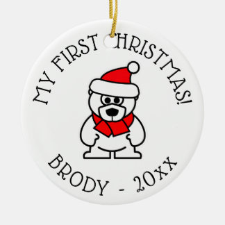 Baby's 1st Christmas personalized tree ornament