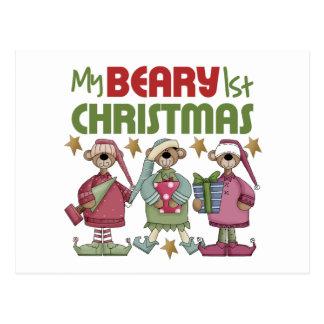 Baby's 1st Christmas Postcard
