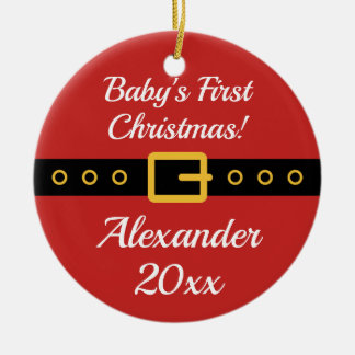 Baby's 1st Christmas Santa Claus tree ornament