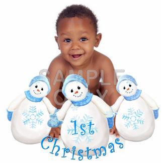 Baby's 1st Christmas Snowman Custom Photo Sculpture Decoration