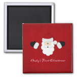 Babys 1st Christmas Square Magnet