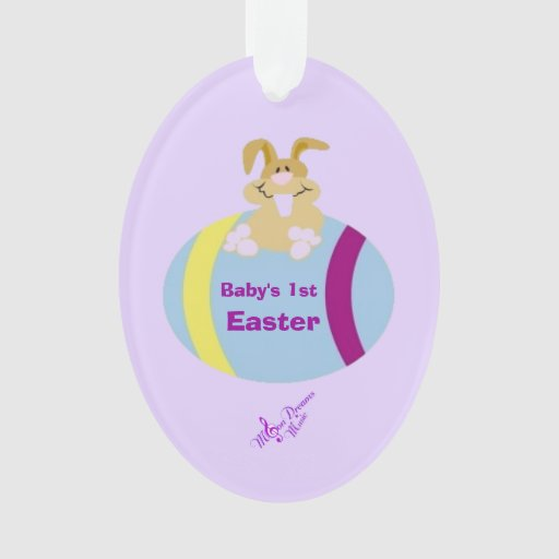 Baby's 1st Easter Bunny Egg Oval Ornament