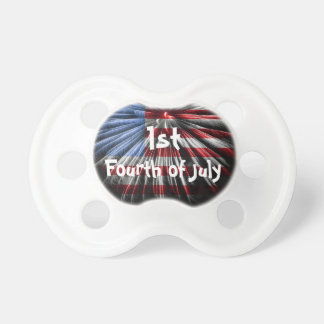 Baby's 1st Fourth of July Baby Pacifiers