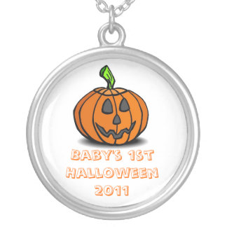 Baby's 1st Halloween  Necklace