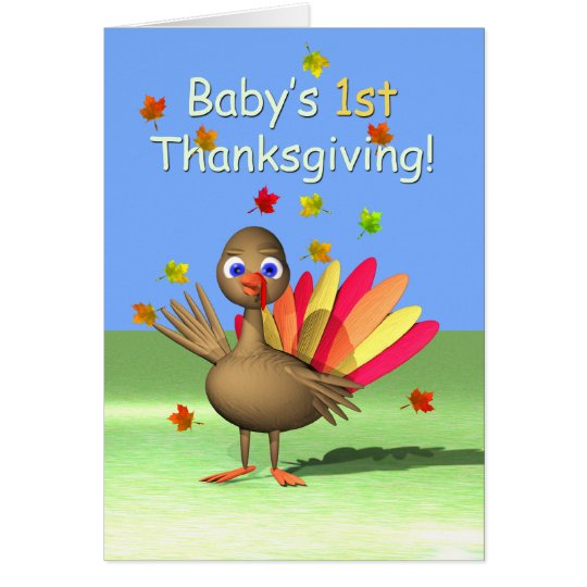 Baby's 1st Thanksgiving - Baby Turkey Card