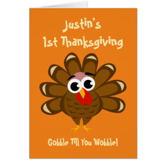 Baby's 1st Thanksgiving grandson or granddaughter Card