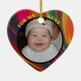 Baby's Aunt Christmas Photo Gift Tag & Ornament