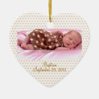 Baby's Baptism Birth Pink Girl Ornament Custom