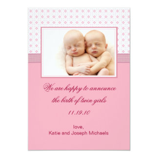 Baby's Breath 3 Photo Birth Announcement