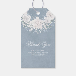 Baby's Breath and Dusty Blue Wedding Gift Tags