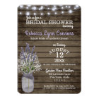 Baby's Breath and Lavender Rustic Bridal Shower Card