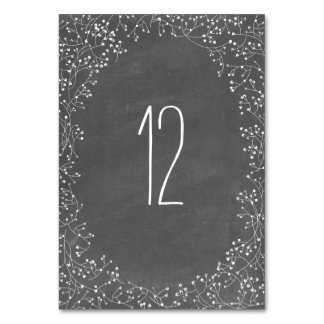 Baby's Breath Chalkboard Inspired Table Number
