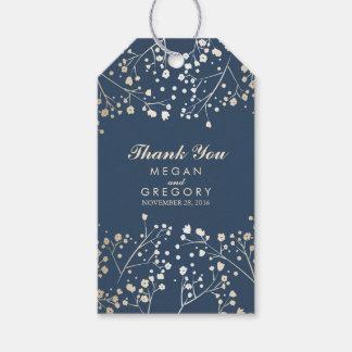 Baby's Breath Gold Foil Navy Wedding