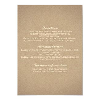 Baby's Breath Gold Wedding Details - Information 11 Cm X 16 Cm Invitation Card