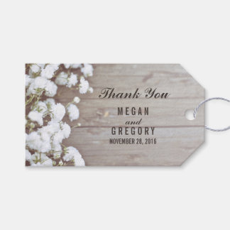 Baby's Breath Rustic Wedding Gift Tags