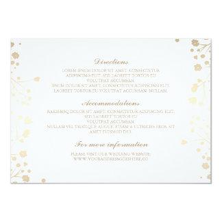 Baby's Breath White Wedding Details - Information 11 Cm X 16 Cm Invitation Card