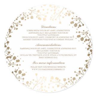 Baby's Breath White Wedding Details - Information 13 Cm X 13 Cm Square Invitation Card