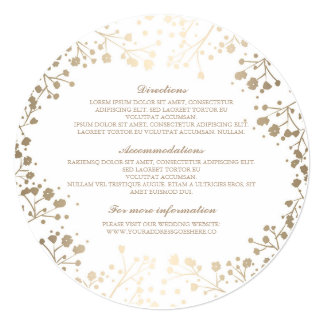 Baby's Breath White Wedding Details - Information Card
