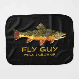 Baby's Brown Trout Fishing Burp Cloth