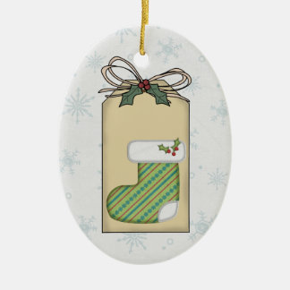 Baby's Christmas Gift Tag Ornament