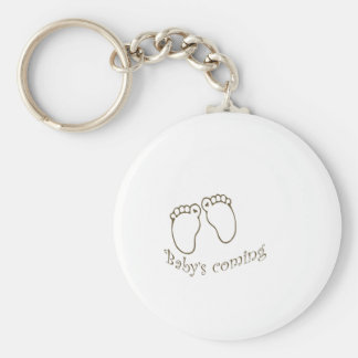 babys coming feet key ring