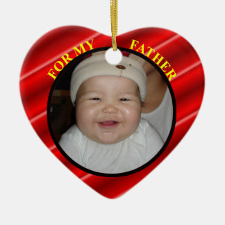 Baby's Father Christmas Photo Gift Tag & Ornament