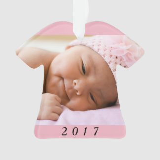 Baby's First 1st Christmas Photo Year Ornament