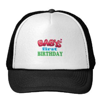 Baby's First Birthday Trucker Hat