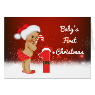 Baby's First Birthday Christmas Card