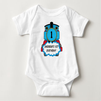 Baby's first Birthday Train Shirt 12 months