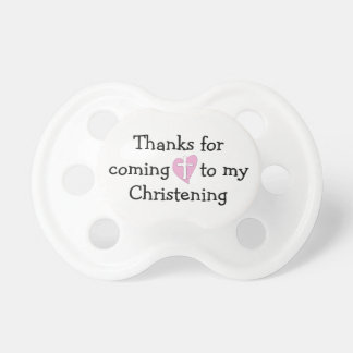 Baby's First Christening Pacifier Binky Religious