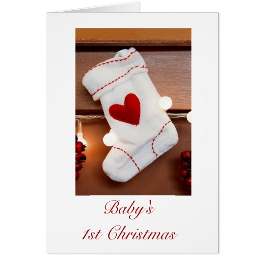 Baby's first Christmas 1st Christmas with stocking Card