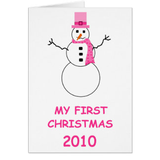 Baby's first Christmas 2010 Greeting Cards