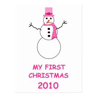 Baby's first Christmas 2010 Postcard