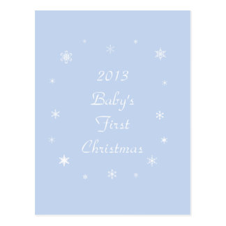 Baby's First Christmas 2013 Cards Postcard