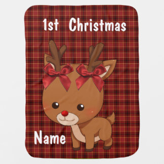 """""""Baby's First Christmas"""" BABY BLANKET"""