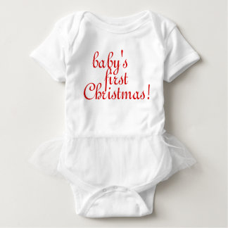 Baby's First Christmas Baby Bodysuit