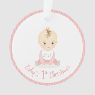 Baby's First Christmas Baby Girl and her Mobile Ornament
