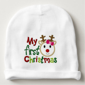 """""""Baby's First Christmas"""" BABY HAT Baby Beanie"""