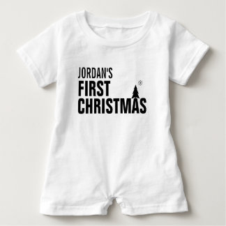 Baby's First Christmas Baby Romper Baby Bodysuit