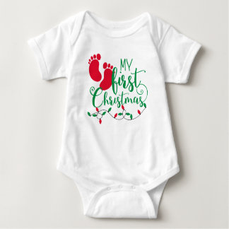 Baby's First Christmas Body Shirt