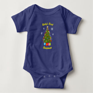 Baby's First Christmas Body Suit Baby Bodysuit