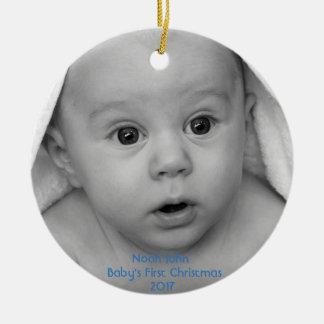 Baby's First Christmas Boy Custom Ornament
